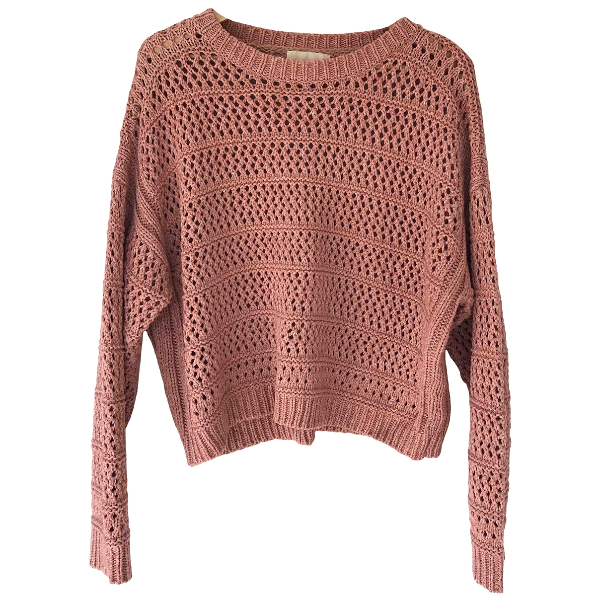 Non Signé / Unsigned \N Pink Cotton Knitwear for Women S International