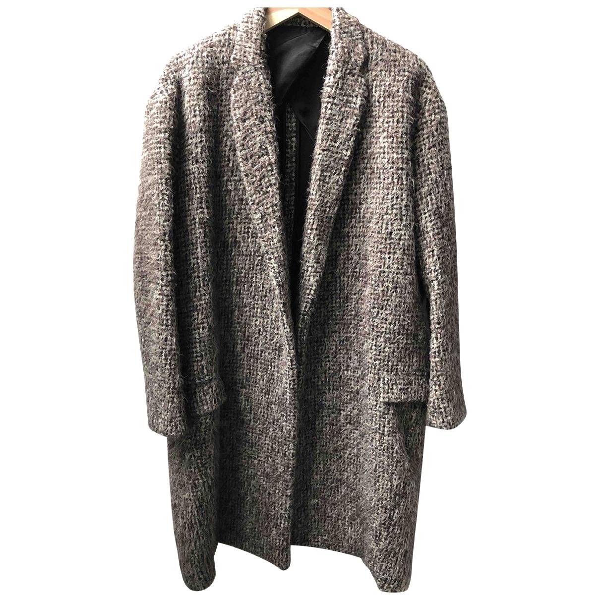 Celine - Manteau   pour femme en tweed - marron
