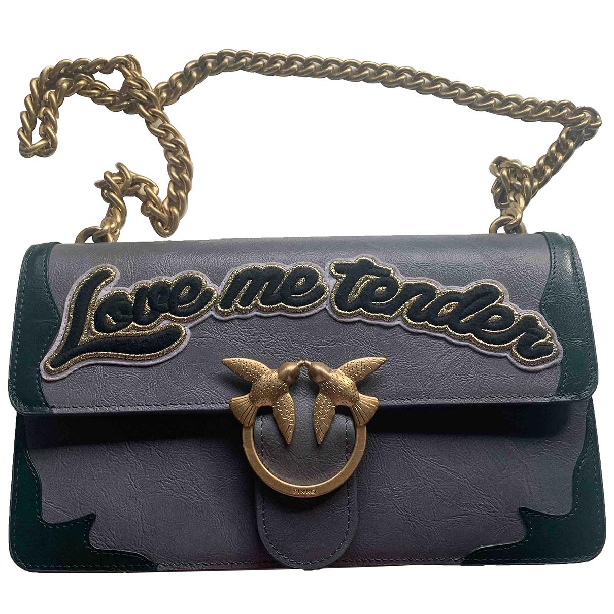 Pinko - Sac a main Love Bag pour femme en cuir - gris