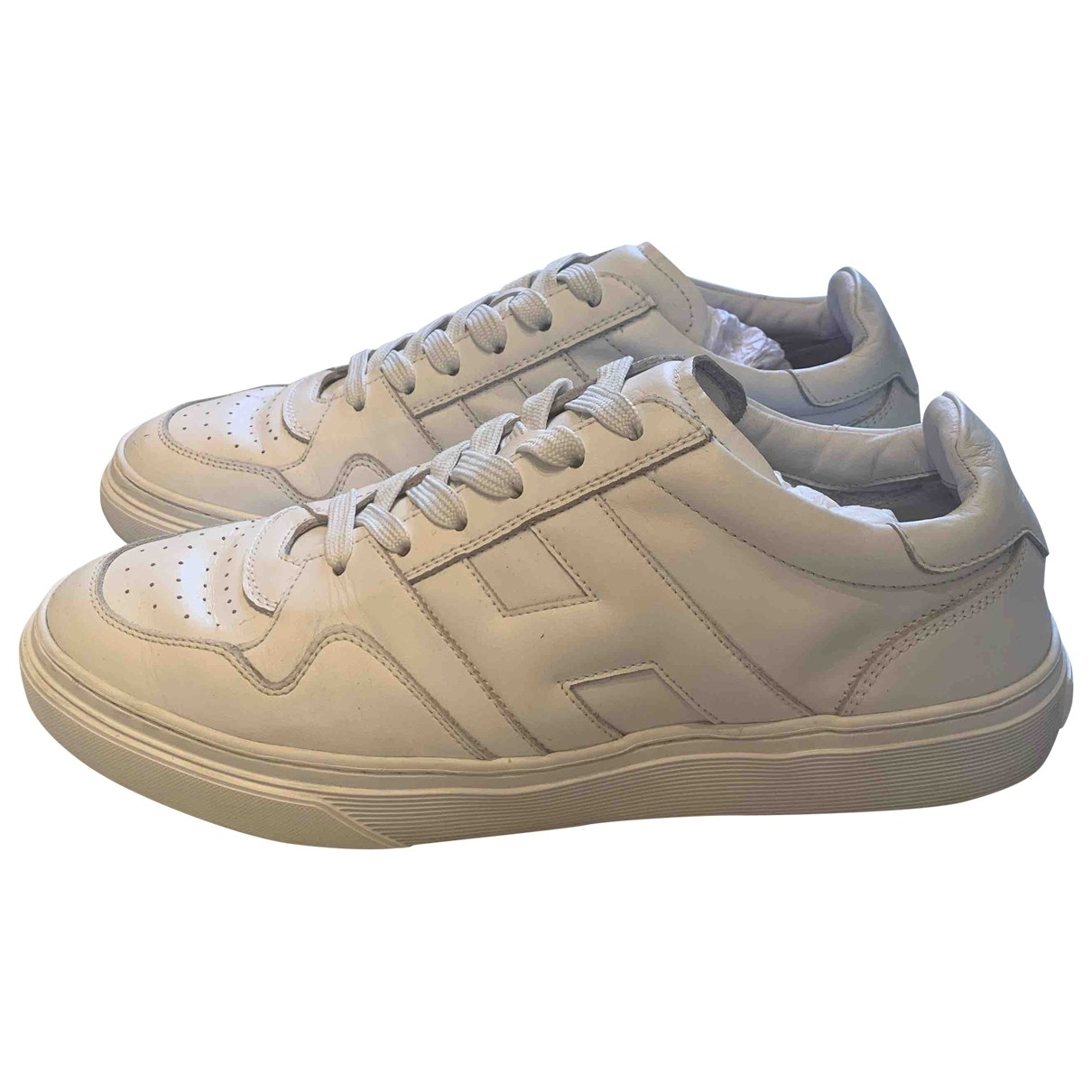 Hogan \N White Leather Trainers for Men 8 UK