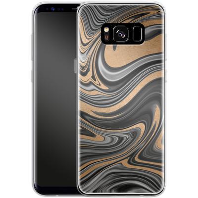 Samsung Galaxy S8 Silikon Handyhuelle - Gold Swirl von #basic
