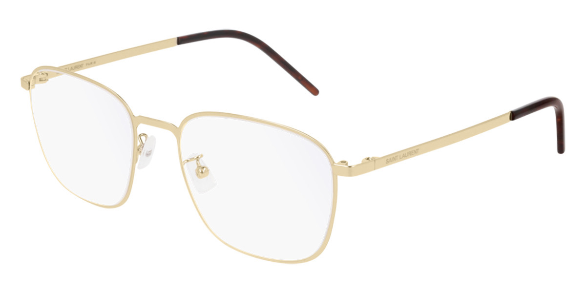 Saint Laurent SL 352 SLIM 006 Men's Glasses Gold Size 54 - Free Lenses - HSA/FSA Insurance - Blue Light Block Available
