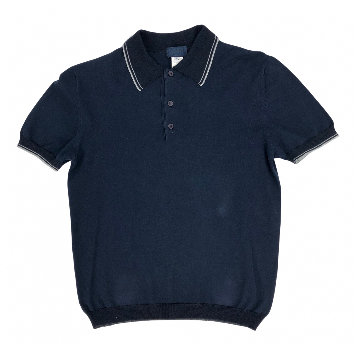Gianni Versace \N Navy Cotton Polo shirts for Men S International