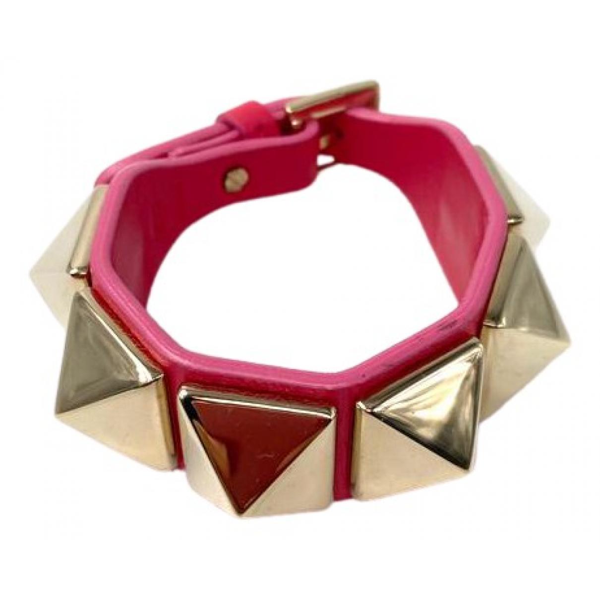 Valentino Garavani - Bracelet   pour femme en cuir - rouge