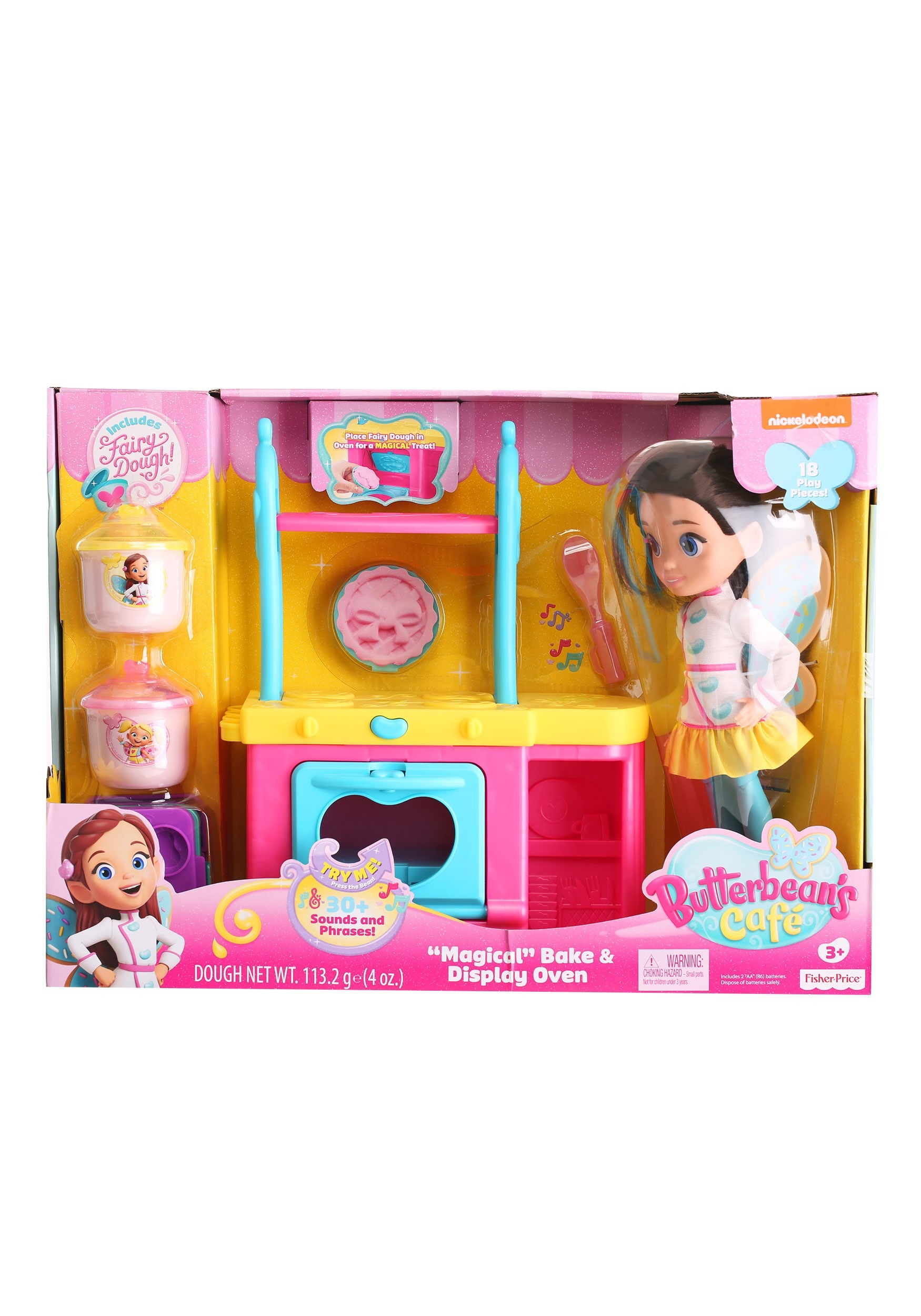 Butterbean's Cafe Magic Dough Oven & Doll for Girl's