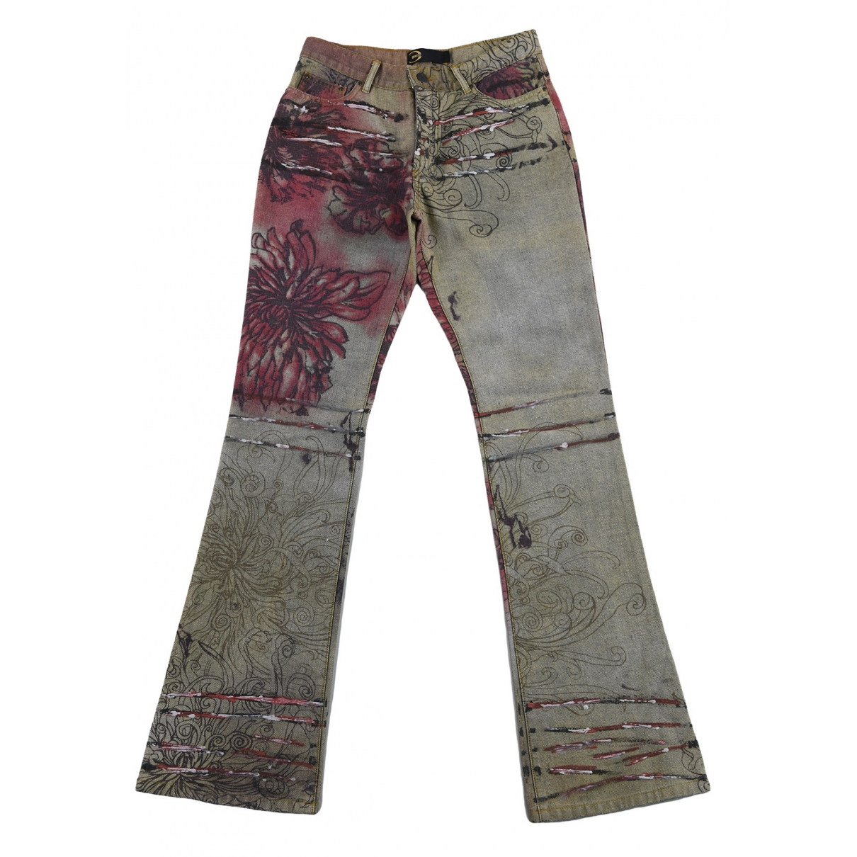 Just Cavalli \N Brown Cotton Jeans for Women 38 FR