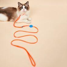 2 In 1 Flower Decor Cat Collar & Cat Leash