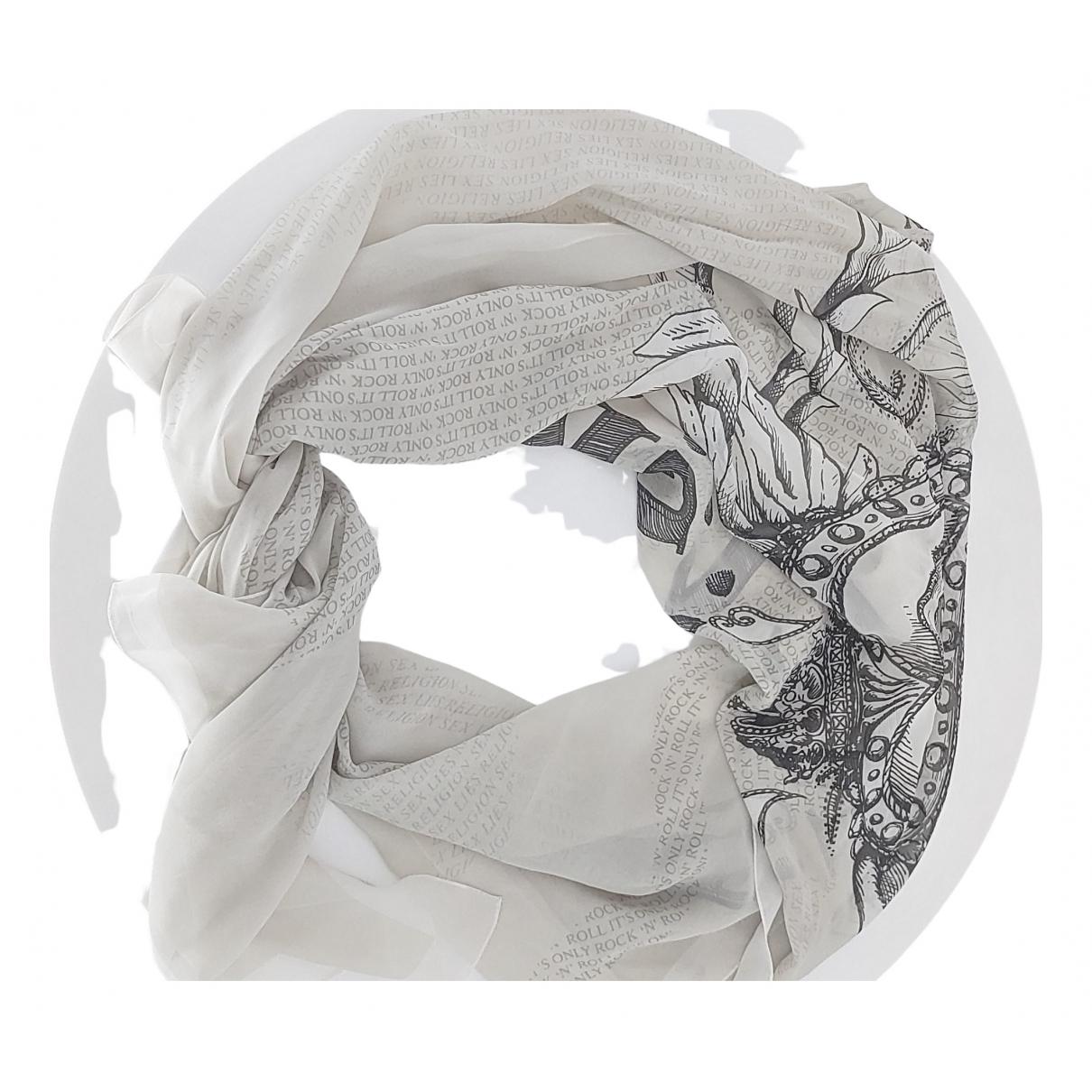 John Richmond \N White Silk scarf for Women \N