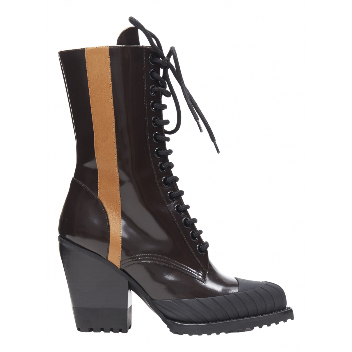 Chloé \N Brown Leather Boots for Women 38 EU