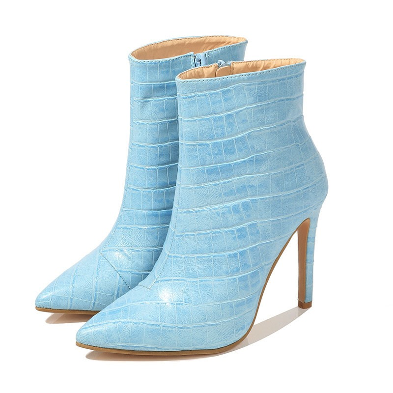 Ericdress Stiletto Heel Side Zipper Pointed Toe Ankle Boots