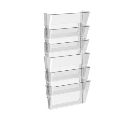 Storex® Snap and Stack Wall Pockets Files - Clear, Set of 6 files, Legal Size