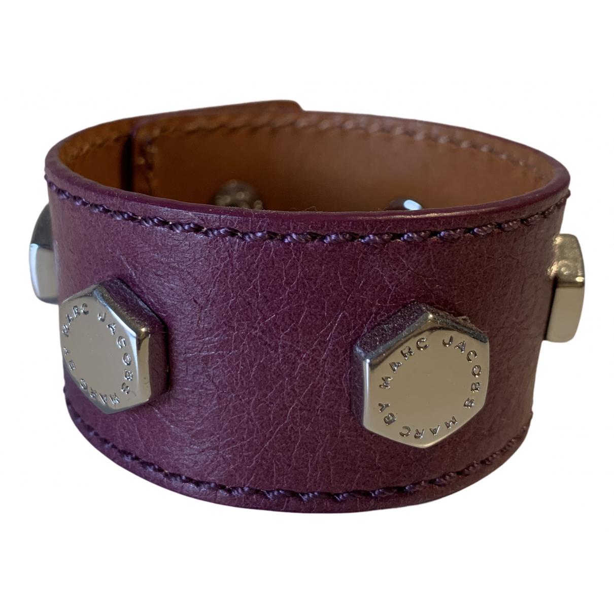 Marc Jacobs - Bracelet   pour femme en cuir - violet