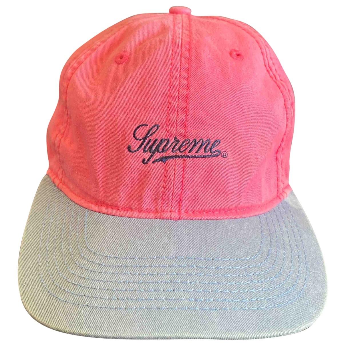 Supreme - Chapeau & Bonnets   pour homme en coton - rose