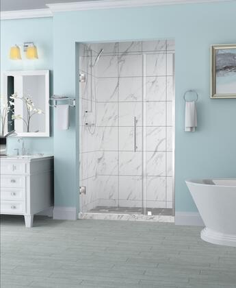 SDR965EZ-SS-5238-10 Belmore 51.25 To 52.25 X 72 Frameless Hinged Shower Door In Stainless