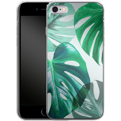 Apple iPhone 6s Silikon Handyhuelle - Monstera 1 von Mareike Bohmer