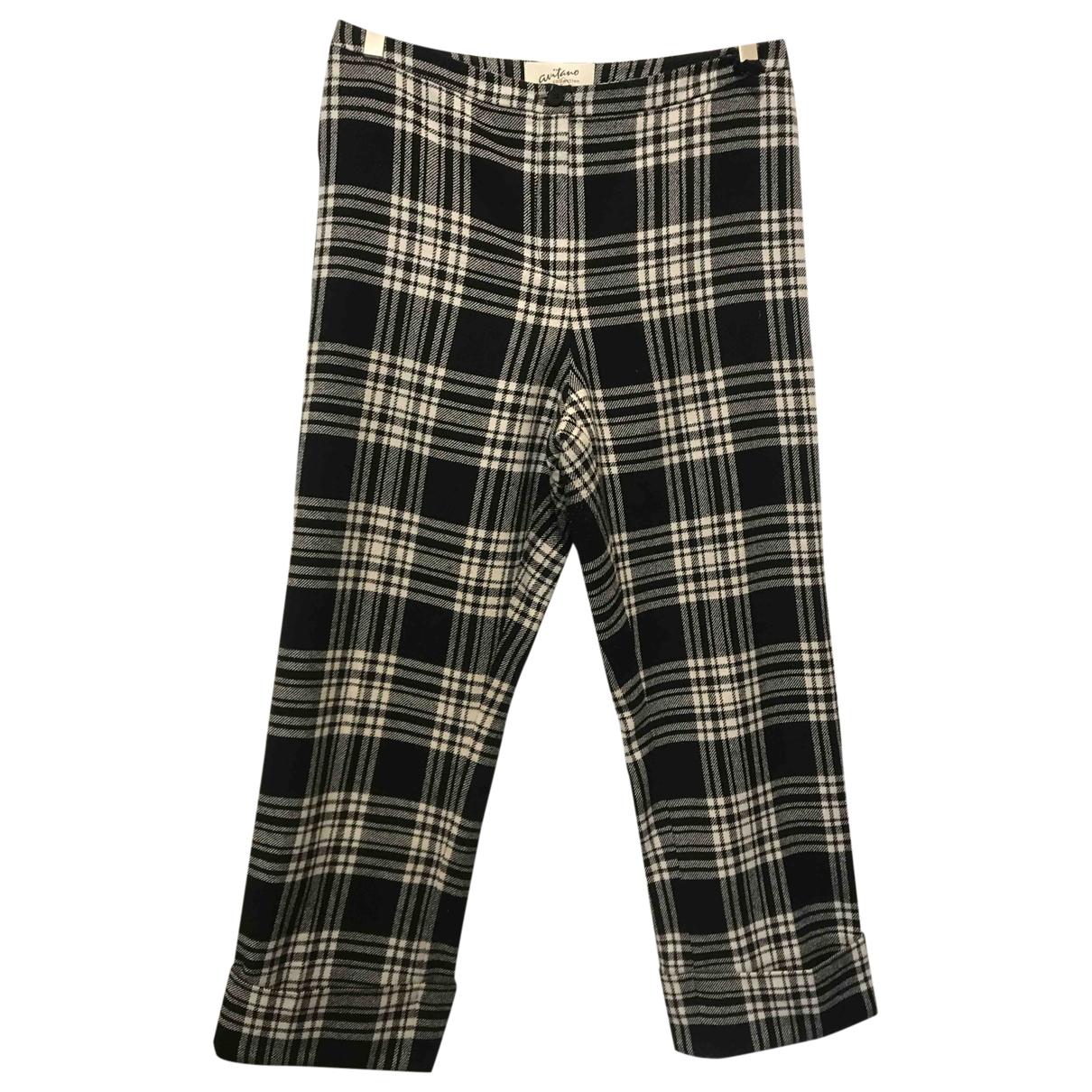 - Pantalon   pour femme en laine - multicolore
