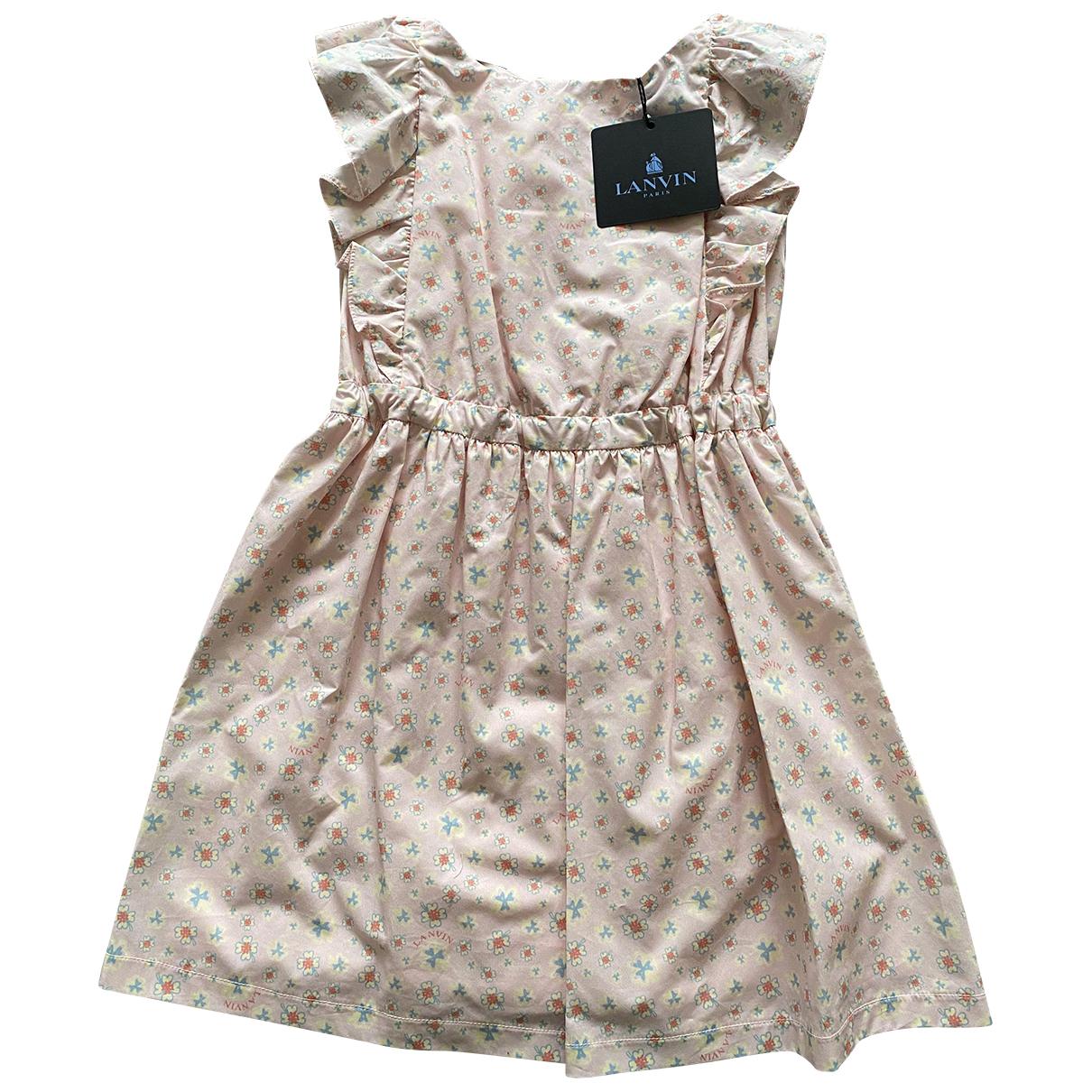 Lanvin - Robe    pour enfant en coton - rose
