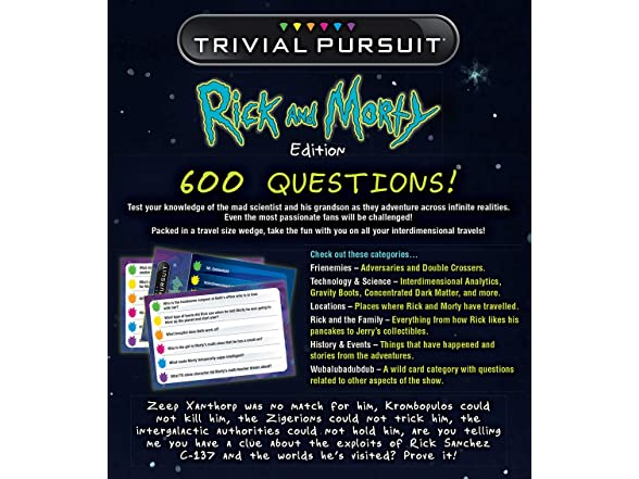 Usaopoly Trivial Pursuit Rick & Morty