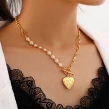 Halskette mit Herzen Dekor