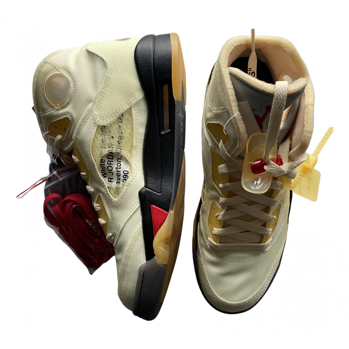 Deportivas Jordan 5 de Cuero Nike X Off-white