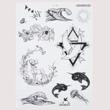 1sheet Mix Pattern Tattoo Sticker
