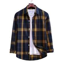 Men Plaid Button Up Shirt
