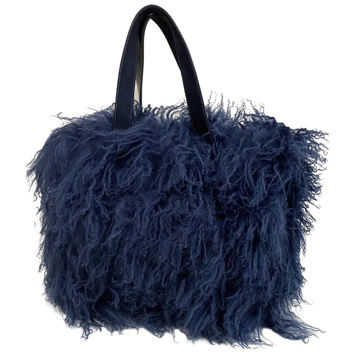 Hogan \N Handtasche in  Blau Synthetikpelz