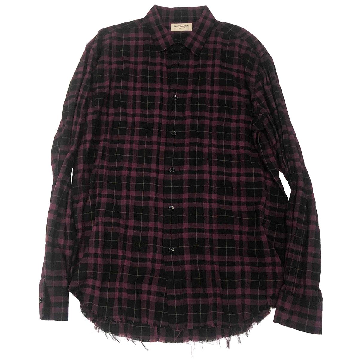 Saint Laurent \N Hemden in  Lila Baumwolle