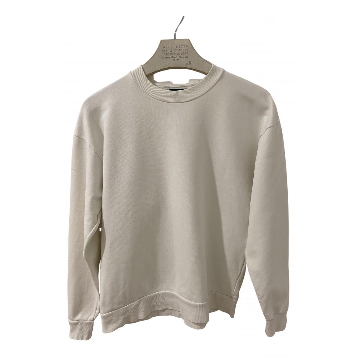Zara - Pull   pour femme en coton - blanc