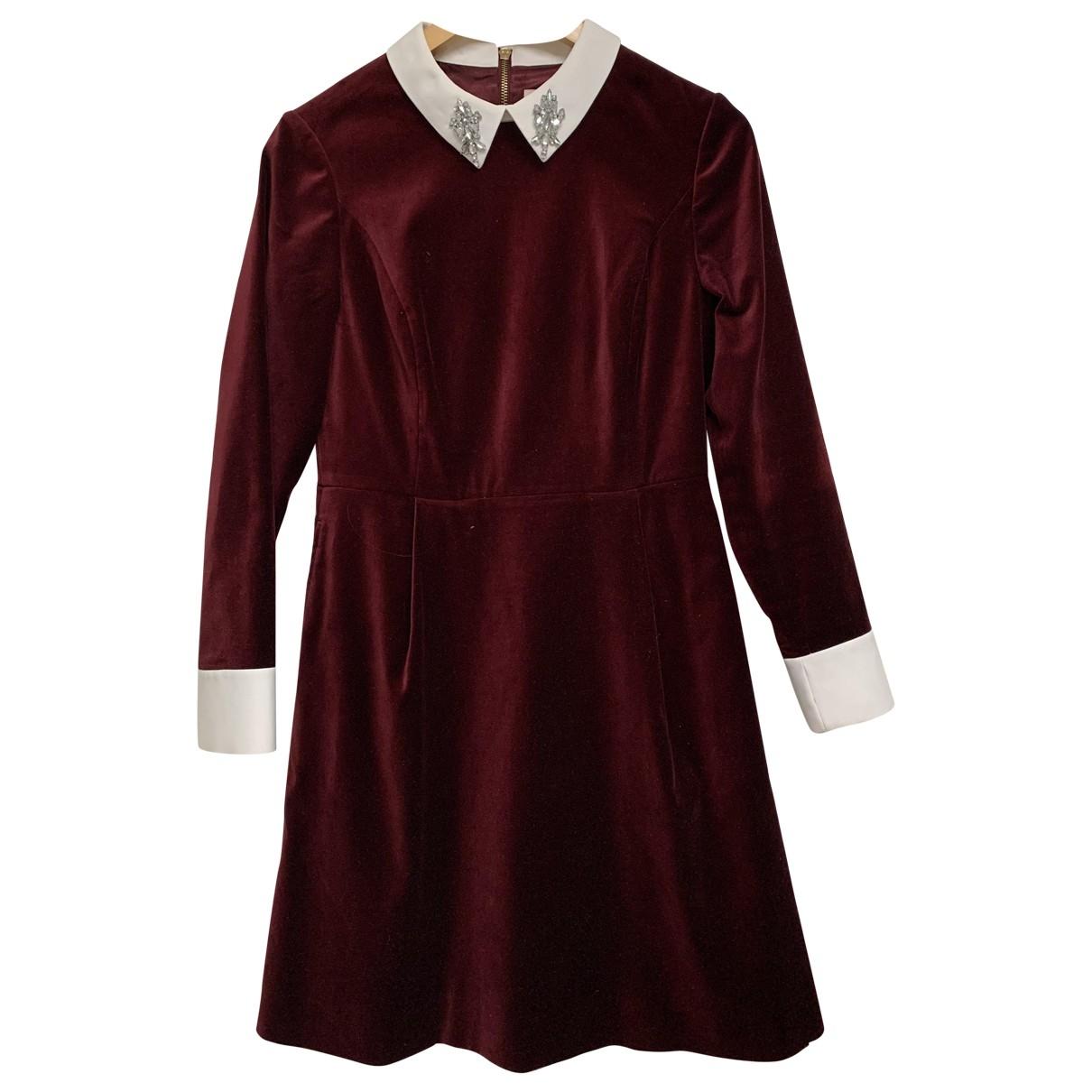 Ted Baker - Robe   pour femme en velours - rouge