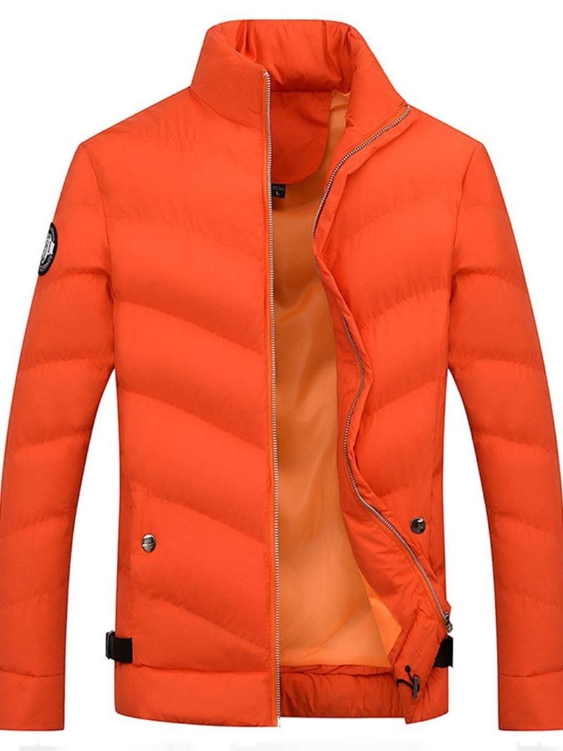 Ericdress Stand Collar Zipper Korean Men's Down Jacket