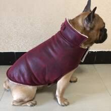 Einfarbiger Mantel fuer Hunde