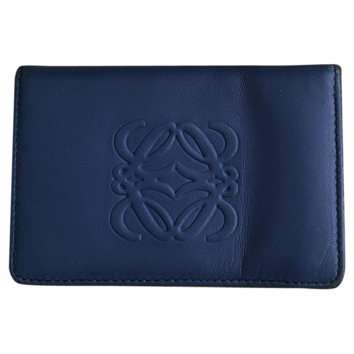 Loewe \N Blue Leather Purses, wallet & cases for Women \N