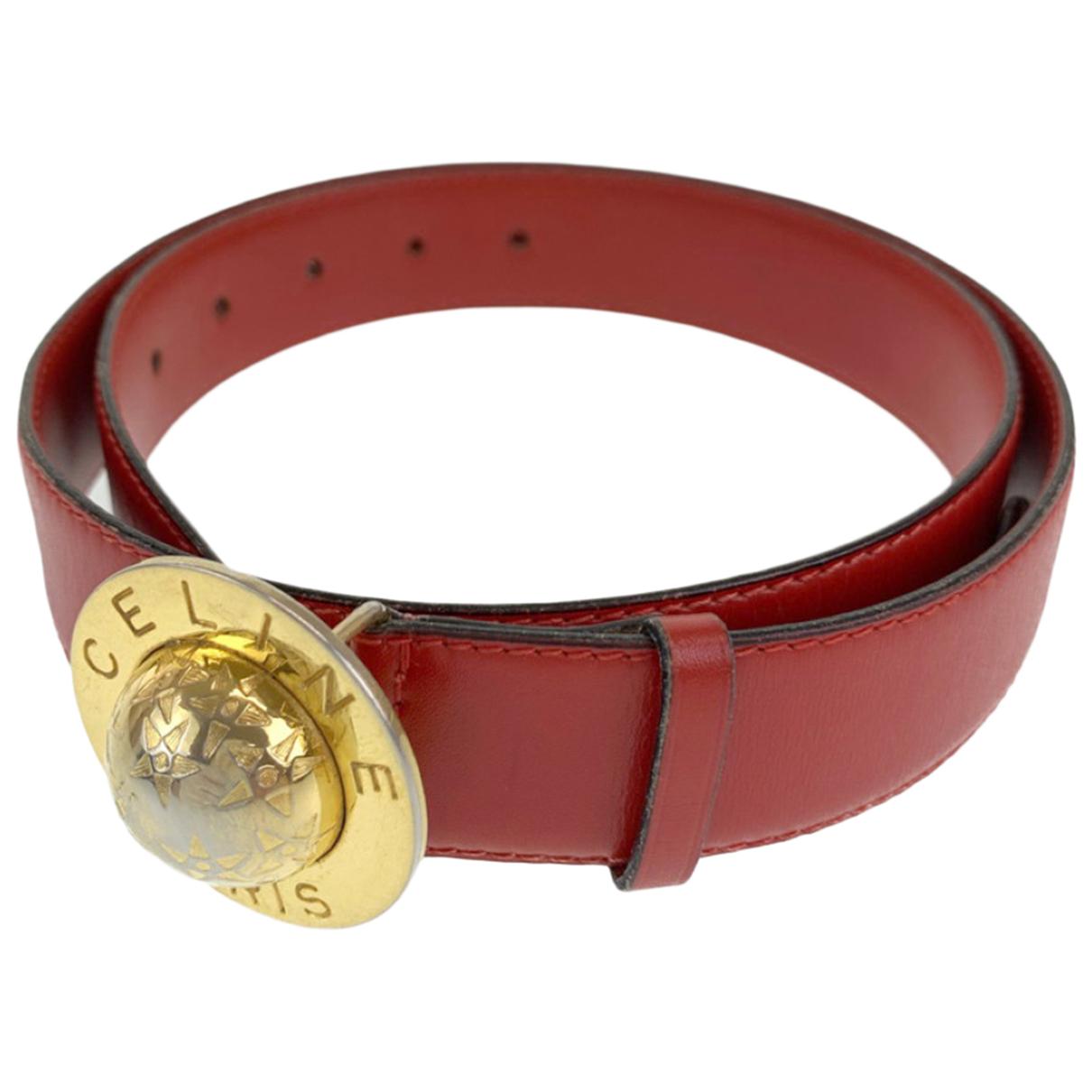 Celine N Red Leather belt for Women 75 cm