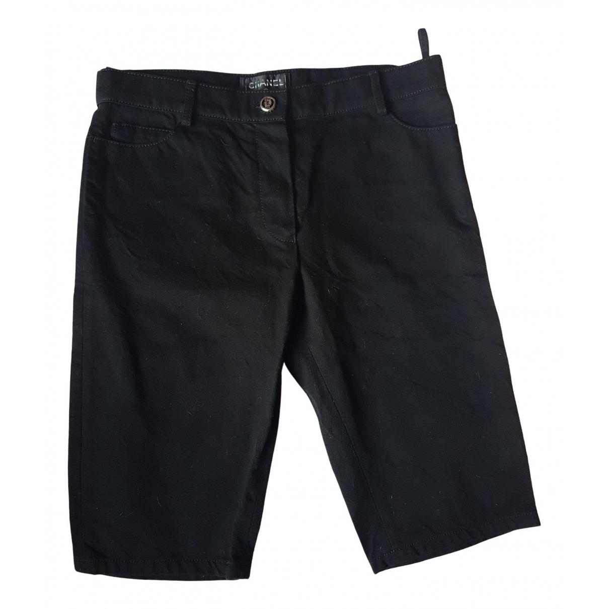Chanel \N Shorts in  Schwarz Baumwolle