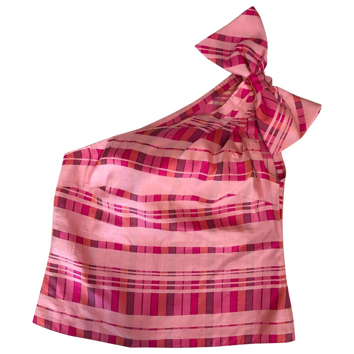 - Top   pour femme en soie - rose