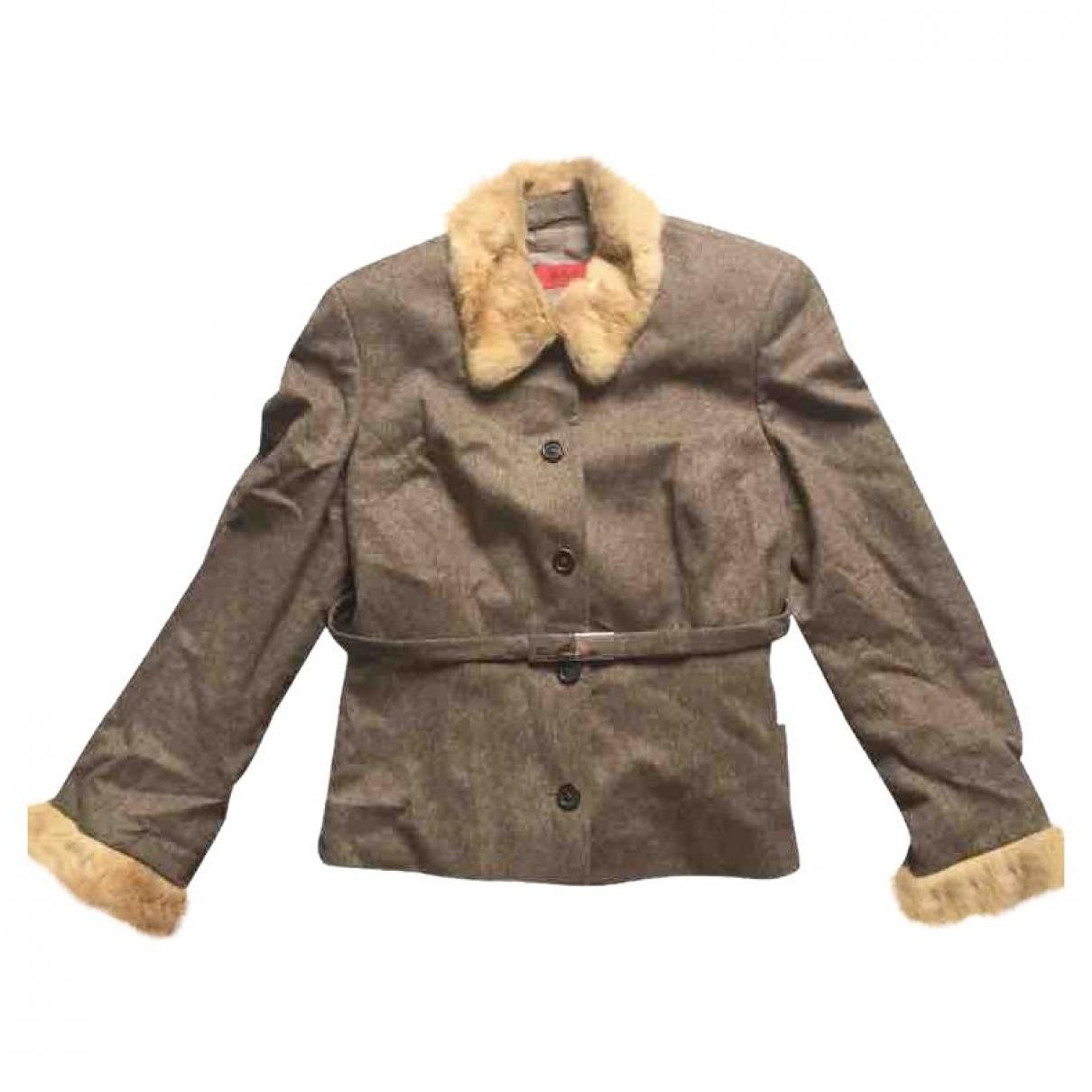 Hugo Boss - Veste   pour femme en laine - marron