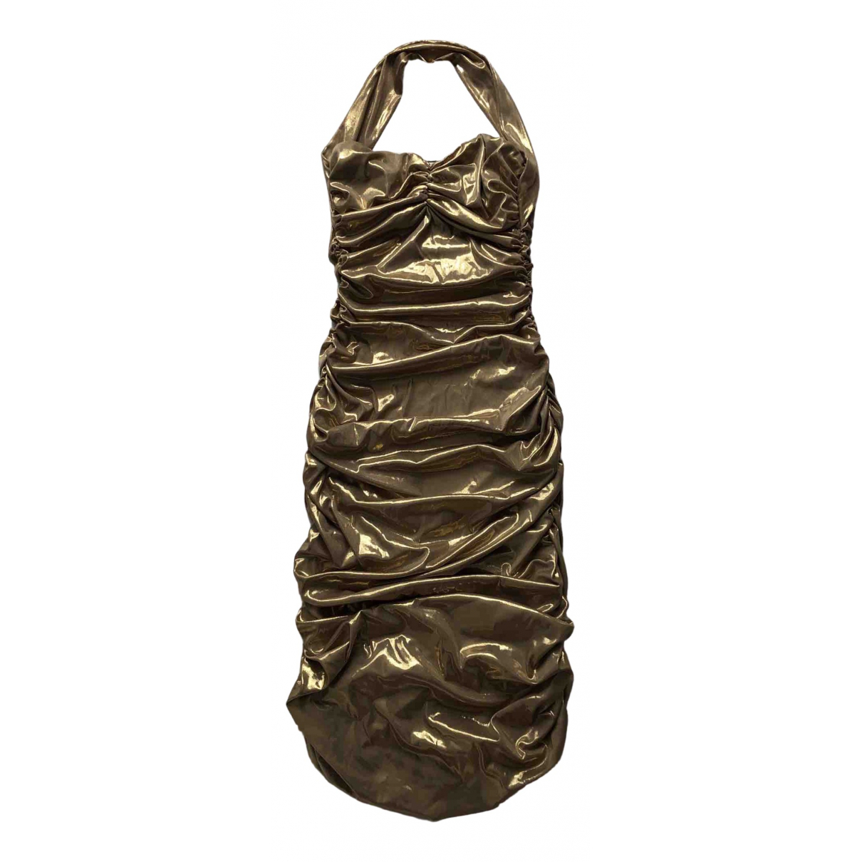 Norma Kamali \N Gold dress for Women S International