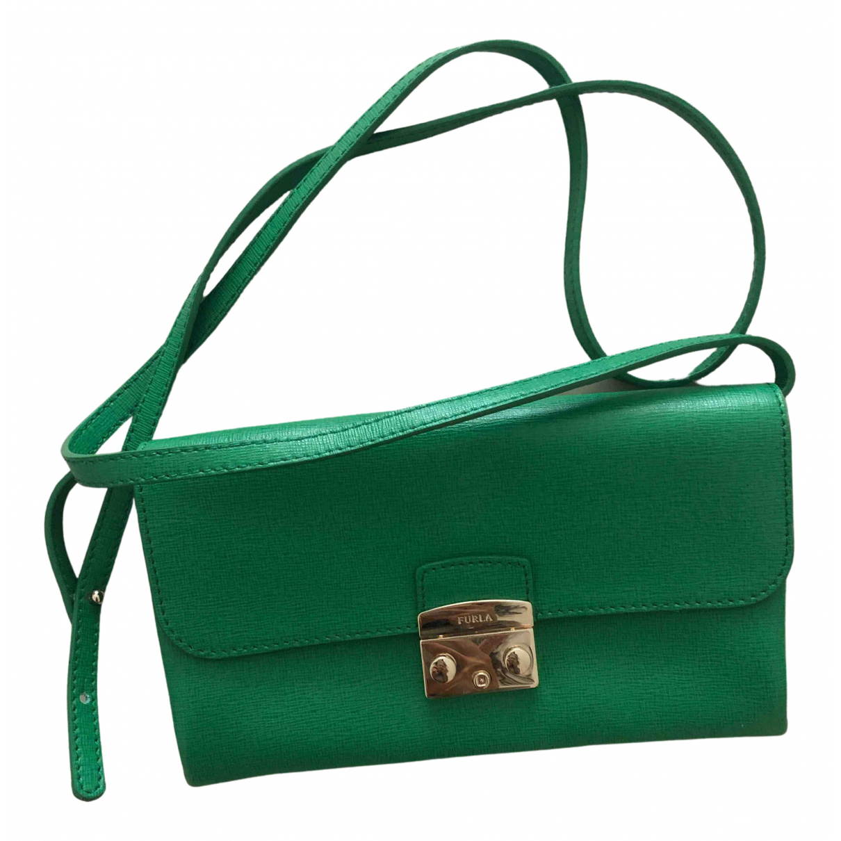 Furla - Pochette   pour femme en cuir - vert