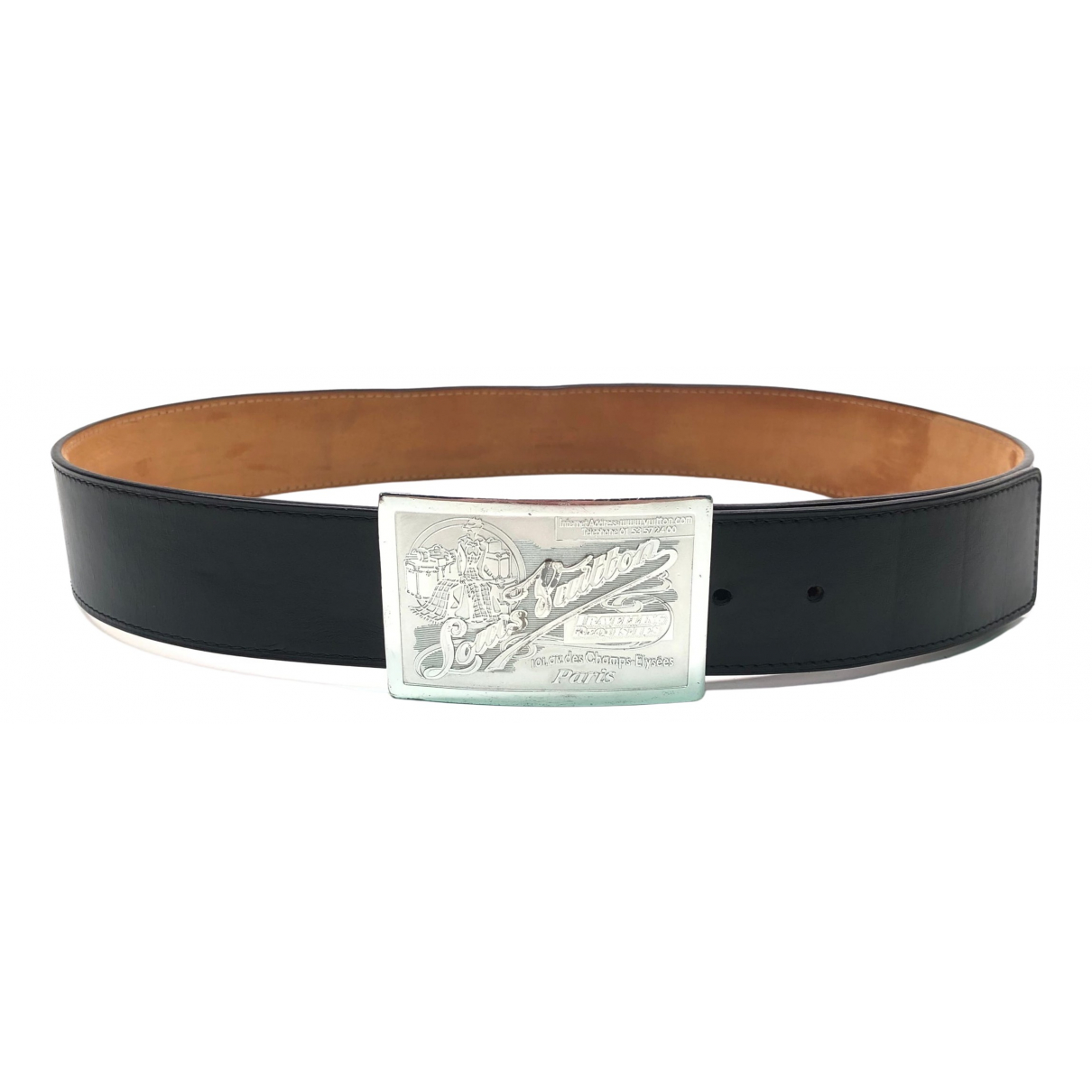 Louis Vuitton \N Black Leather belt for Men 95 cm