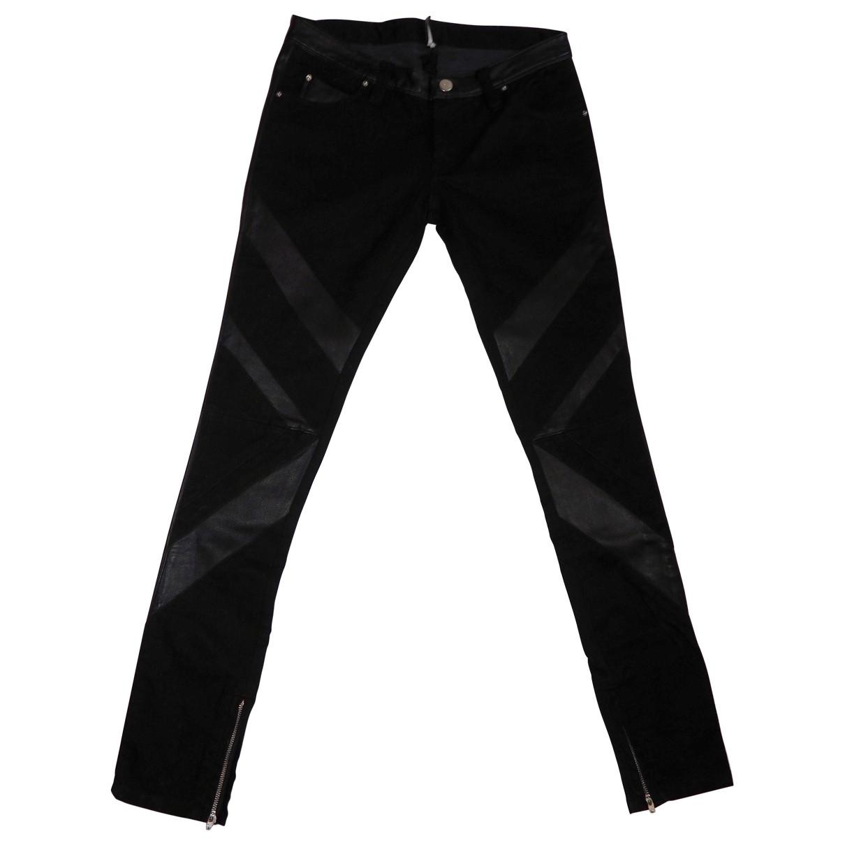 Iro \N Black Cotton - elasthane Jeans for Women 26 US