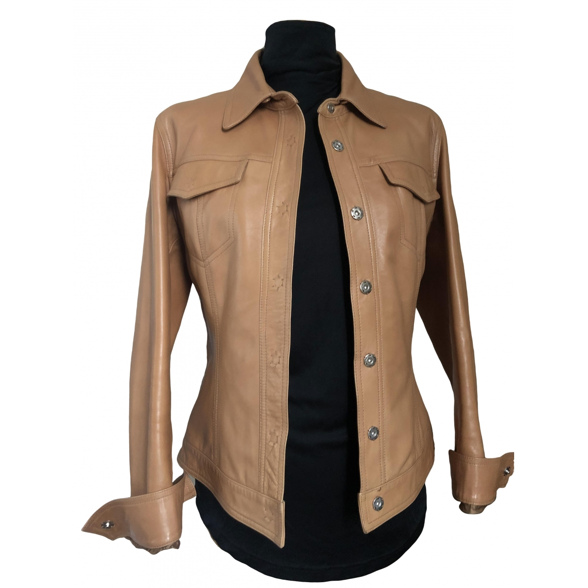 Prandina \N Leather Leather jacket for Women 44 IT