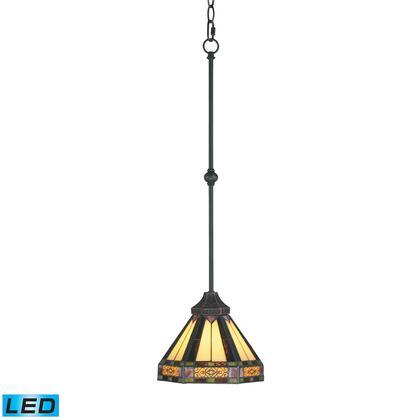 629-AB-LED Filigree 1-Light Pendant in Aged Bronze -