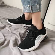 Lace-up Knit Wide Fit Sneakers
