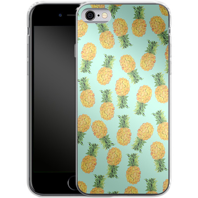 Apple iPhone 6s Silikon Handyhuelle - Pineapple von Amy Sia