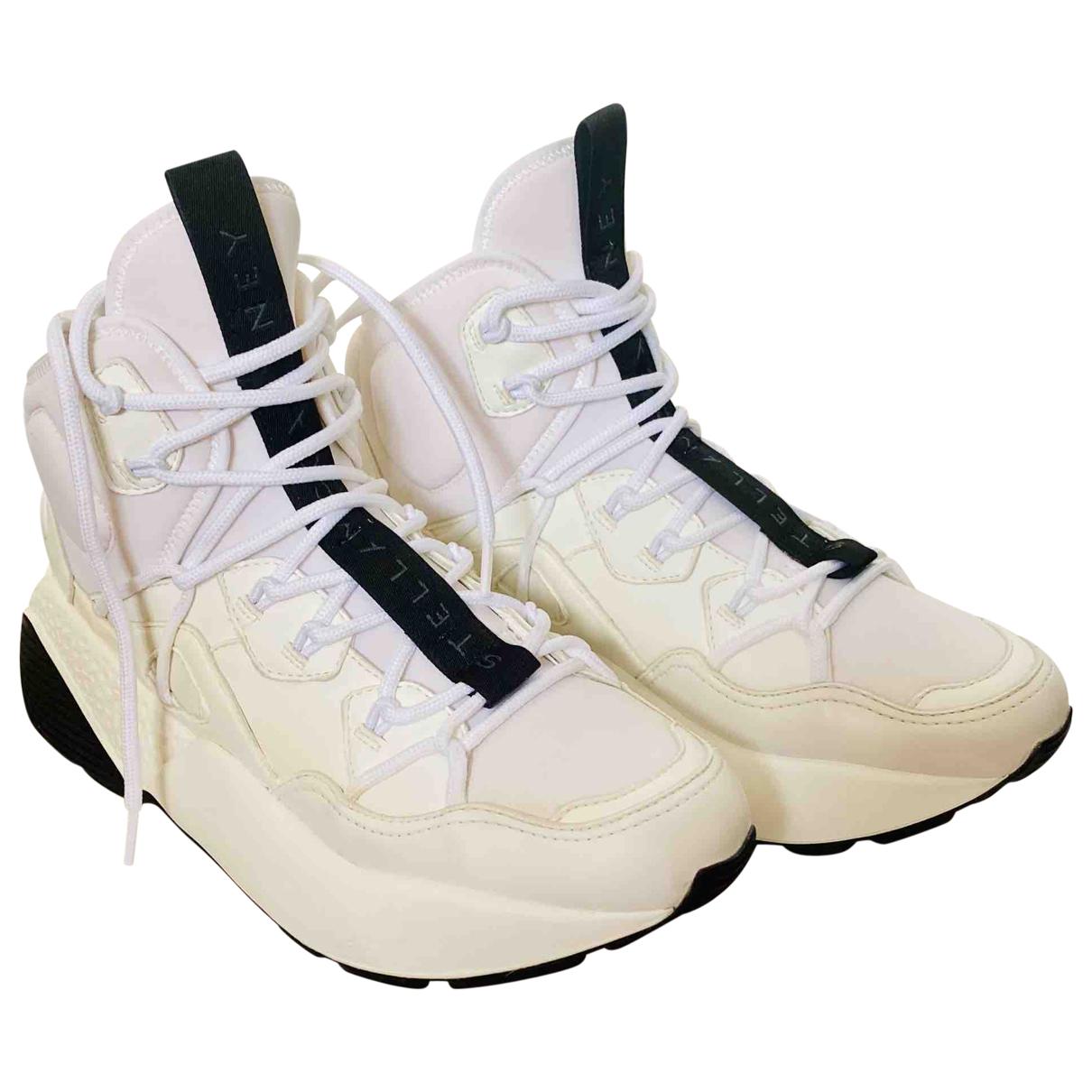Stella Mccartney Eclypse Sneakers in  Weiss Leinen