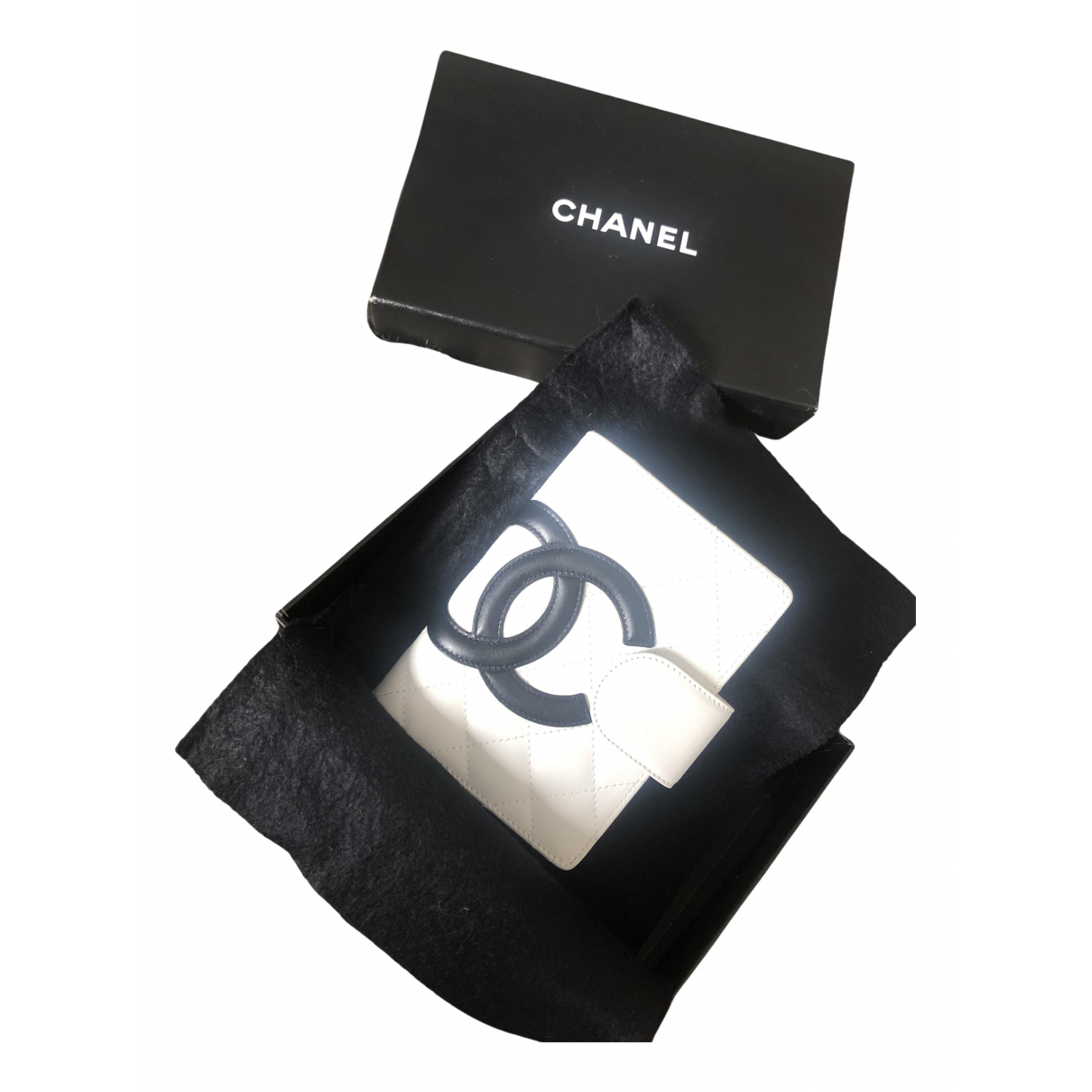 Chanel Cambon Kleinlederwaren in  Weiss Leder