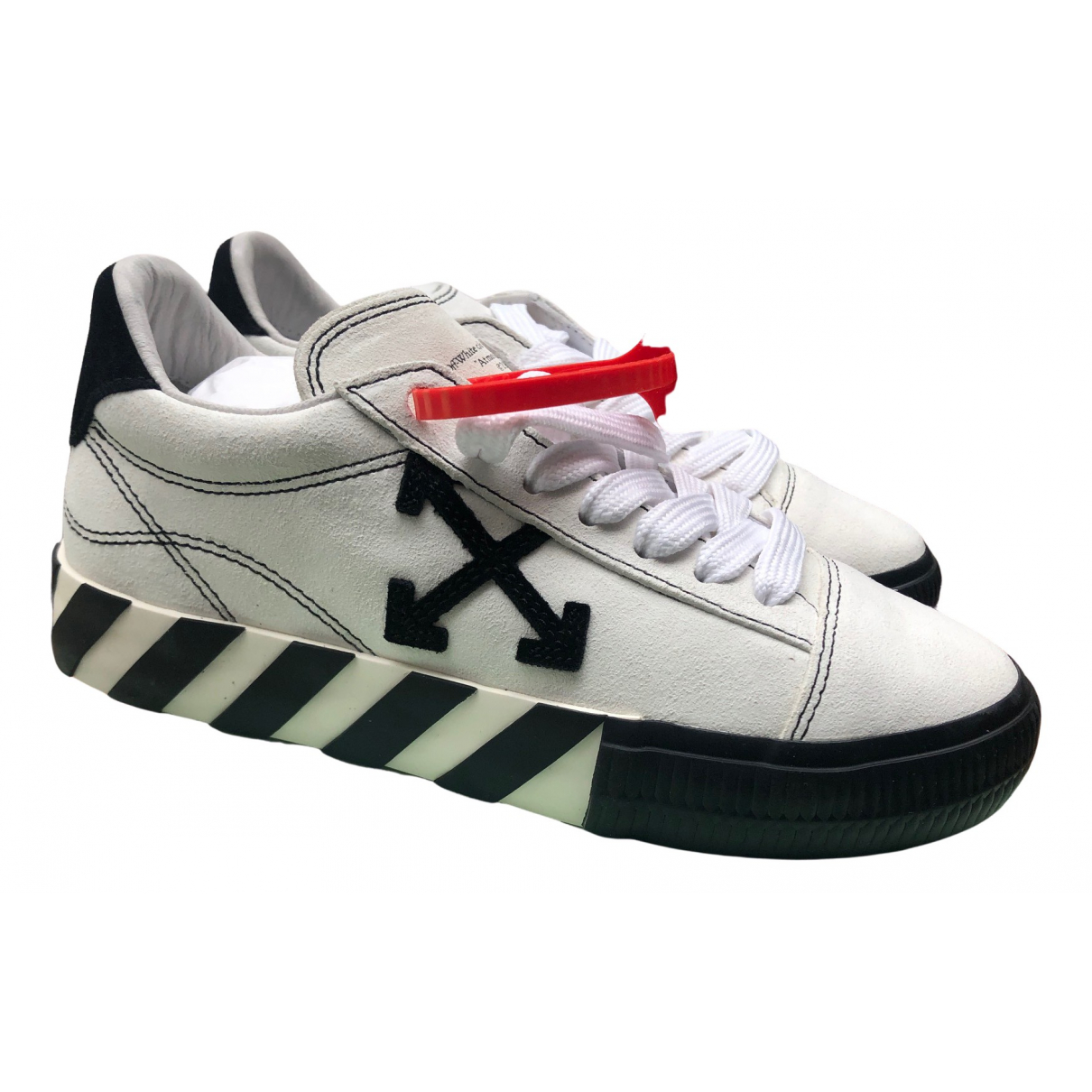 Off-white Vulcalized White Leather Trainers for Women 36 EU