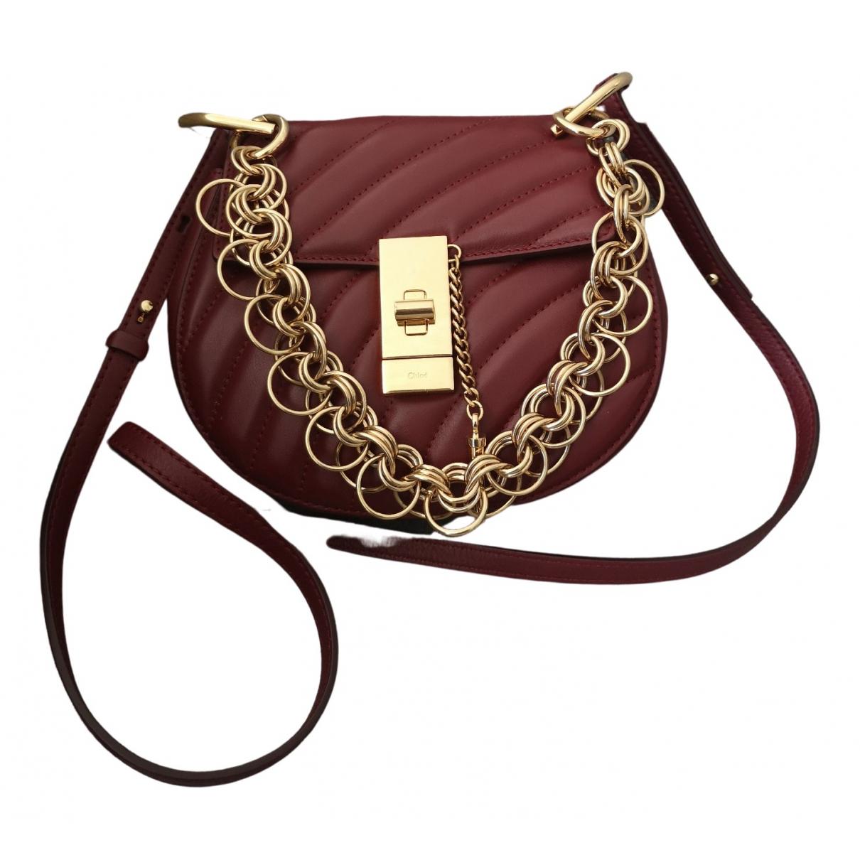 Chloé Drew Burgundy Leather handbag for Women \N
