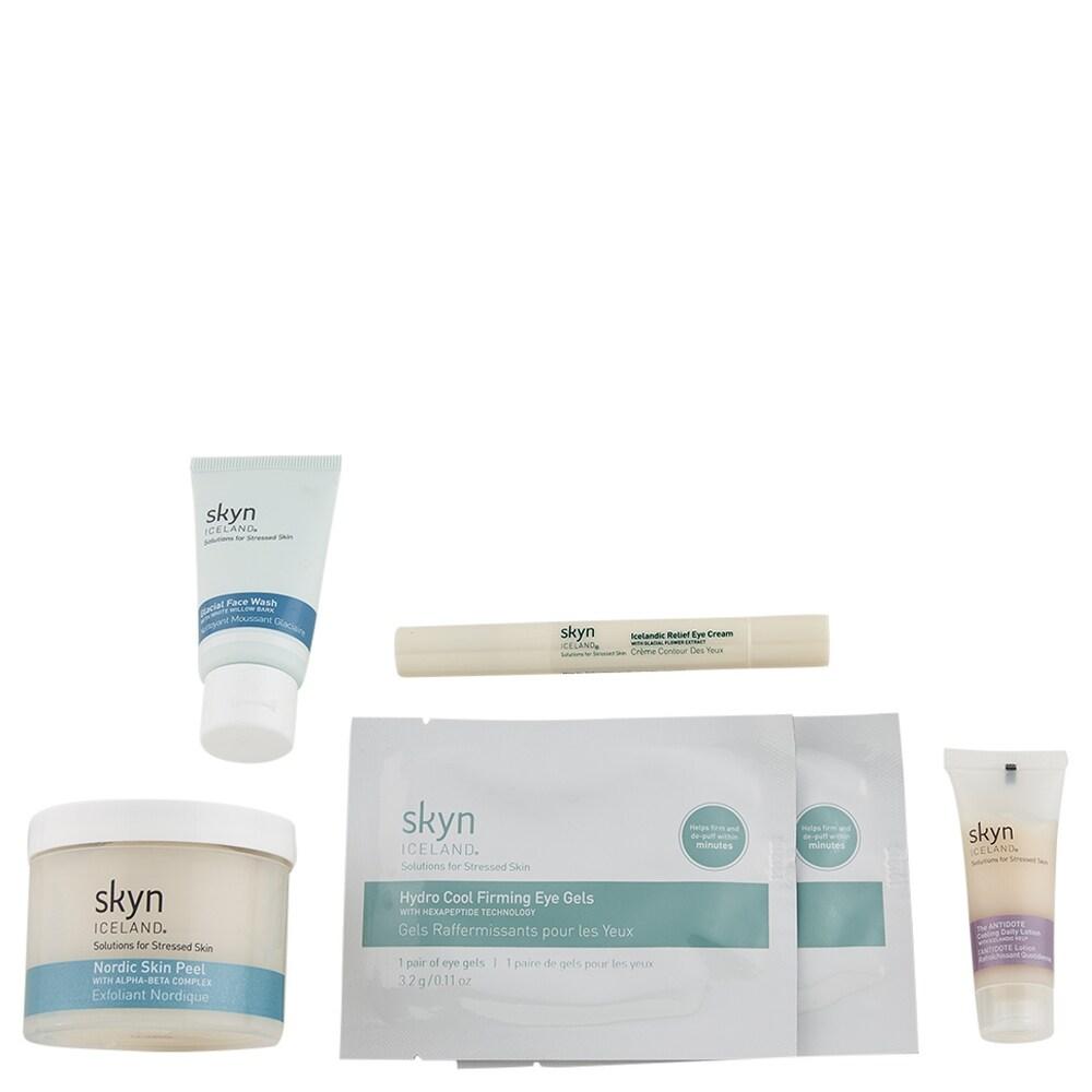 Skyn Iceland Saving Face Kit - Multi sizes (Anti-Aging - Green/White)